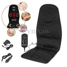 8 Mode Massage Seat Cover Heated Heat Back Neck Cushion Car Seat Chair Massager