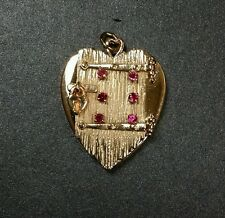 "14K Large Vintage Locket "" The Prisoner of Love""  Charm☆Pendant Yellow Gold 25gr"