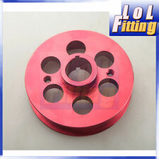 Racing Light-weight Crank Pulley Kit For Toyota Mrs / Celica 1.8WTI Aluminum Red