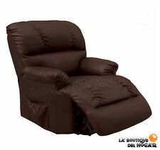 Chair of Masaje Relax modelo Irene Electric with automatic recliner Brown