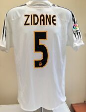 Real Madrid Football Shirt Jersey ZIDANE 5 Adidas Home 2004 2005 Adult XL