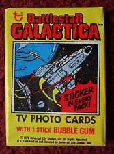 Unopened Pack 1978 Topps Battlestar Galactica TV Show Cards ~ Lorne Greene