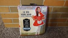 Little Lil' Red Riding Hood Child Dress Up Costume XL - BRAND NEW - Party City