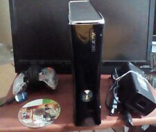 Xbox 360 Slim 250 GB Black Console - Very Good Condition  & 1 new controller