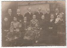 Ü/248 FOTO CDV großformat FAMILIE KINDER PUPPE MODE UMGEBUNG MEISSEN UM 1918