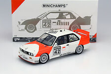 BMW M3 (E30) #42 Cor Euser bmw Dealerteam Raza Zolder 1991 1:18 Minichamps
