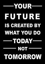 LIFE INSPIRATIONAL / MOTIVATIONAL QUOTE POSTER / PRINT / PICTURE YOUR FUTURE....