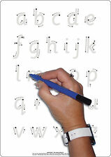 Educational Childrens A4 Letter Formation & Plain Whiteboard + Dry Wipe Pen