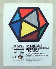 E411-Advertising Pubblicità-1962 - TORINO 12° SALONE INTERNAZIONALE TECNICA