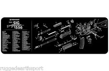 "Sig Sauer 556 Rifle TekMat Gun Cleaning Mat 12""x36"" w Parts Diagram 36-Sig556"