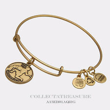 *SPECIAL DISCOUNT* Authentic Alex and Ani Aquarius Rafaelian Gold Charm Bangle