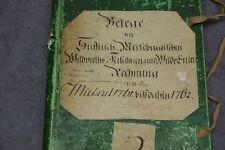 ANTIKER BUCHEINBAND PAPPBAND BUCHDECKEL KOPERT BLOCK MAPPE VON 1762