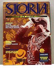 STORIA E DOSSIER - MARZO 1994 - anno IX n.81 - RIVISTA - MUSSOLINI, SALADINO