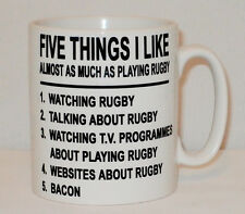5 Things I Like As Much As Playing Rugby Mug Any Name League Five Bacon Gift