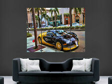 BUGATTI VEYRON SUPERCAR FAST  HUGE  POSTER ART  PRINT LARGE GIANT IMAGE