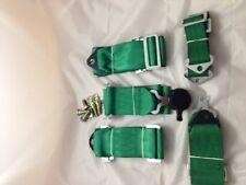 """1x 3"""" breiten Hosenträgergurt grün green 6-Punkt Sportgurte NEU"""