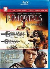 Immortals/Conan/Eagle Triple Feat  Blu-Ray NEW
