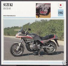 1982 Suzuki 650cc XN 85 Turbo (673cc) Japan Bike Motorcycle Photo Spec Info Card