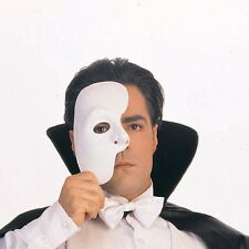 Phantom of the Opera Half Mask Blank Male Costume Face White Mask Paintable NEW