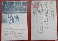 CARTOLINA TARJETA POSTAL POSTCARD  1902 CORRIDA DE TOROS ESPANA