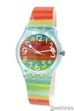 New Swatch Women Color The Sky Multi-Color Plastic Watch 35mm GS124 $60