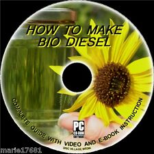 PRODUCE YOUR OWN CLEAN BIO-DIESEL FUEL FROM WASTE COOKING FAT/OIL CD-ROM Save ££