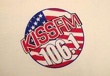106.1 Kiss FM KISSFM Dallas Ft. Worth Radio Station 40 Top Hits White T Shirt L