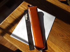 "Retro Vintage PICKETT & ECKEL 800 T Chicago 108 12"" Slide Rule Leather Case 1950"