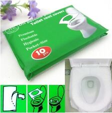New 10Pcs/lot Disposable Waterproof Sterilized Toilet Seat Paper Covers/Mat WS