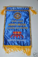 WOW Vintage Manila Metro Philippines Rotary International Club Wall Banner Flag