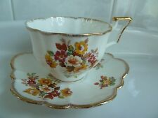 EC Salisbury Floral Bouquet TEA CUP AND SAUCER Set Fine Bone China England 2729A