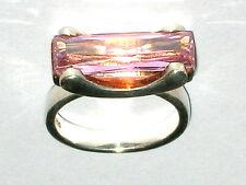 Großer Designer Ring Silber 925 Sterling Rosenquarz Ringgröße 57  Ø18,1mm