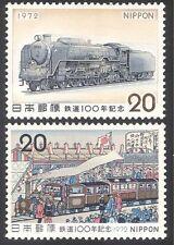 Japan 1972 Trains/Rail/Steam/Transport 2v set (n30415)