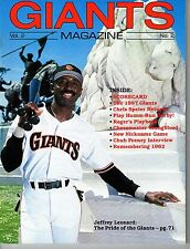 1987 San Francisco Giants Magazine MLB Baseball PROGRAM