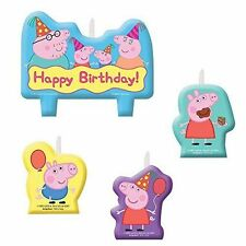 Peppa Pig Birthday Party Favors Supplies Candle Set Cake Top Decoration (4pc)