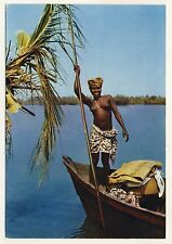 West Africa GIRL w BOAT / MÄDCHEN m BOOT Senegal * 60s Ethnic Nude PC
