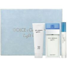 LIGHT BLUE by Dolce & Gabbana 3 pcs Gift Set Women 3.3 oz / 100 ml EDT SPRAY NIB