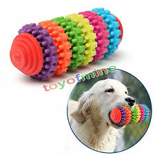Colorful Rubber Pet Dog Puppy Teething Healthy Teeth Gums Chew Toy Tool 6 colors