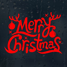Merry Christmas Red Car Decal Vinyl Sticker For Window Wall Bumper Panel