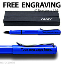 Lamy Safari Rollerball Pen - Personalised ENGRAVED Gift - Blue
