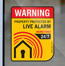 4 Anti Theft System SECURITY ALARM WARNING STICKER Decal Boat Jet Ski Waverunner