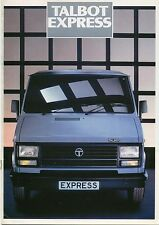 Talbot Express 1986-1987 Original UK Sales Brochure Van Chassis & Crew Cab D5283