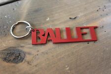 Metal Cut Out Ballet Key Chain