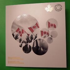 New 2015 Canada Official Collector Card for Canadian Flag 25c With Two Quarters