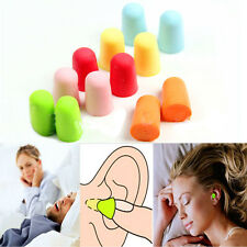 10Pairs Soft Ear Plugs Tapered Travel Sleep Plane Noise Prevention Earplugs