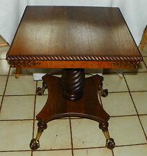 Merklen Solid Quartersawn Oak Carved Center Table / Parlor Table  (BM-T553)