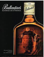 Publicité Advertising 1999 Scotch Whisky Ballantine's