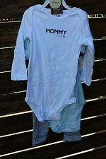 Kids Girls Baby Boys 100% Cotton Carter's Mum Dad's Rockstar Romper 3sets 24mths