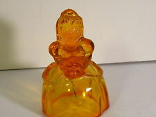 "HEISEY BY IMPERIAL VICTORIAN BELLE BELL TANGELO GLASS  MARKED ""ALIG"""