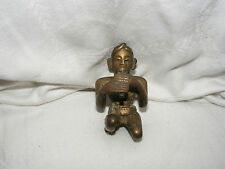 ANTIQUE  BRASS BRONZE ASIAN INDIAN HINDU FIGURE SNAKE CHARMER NEPAL DEITY GOD